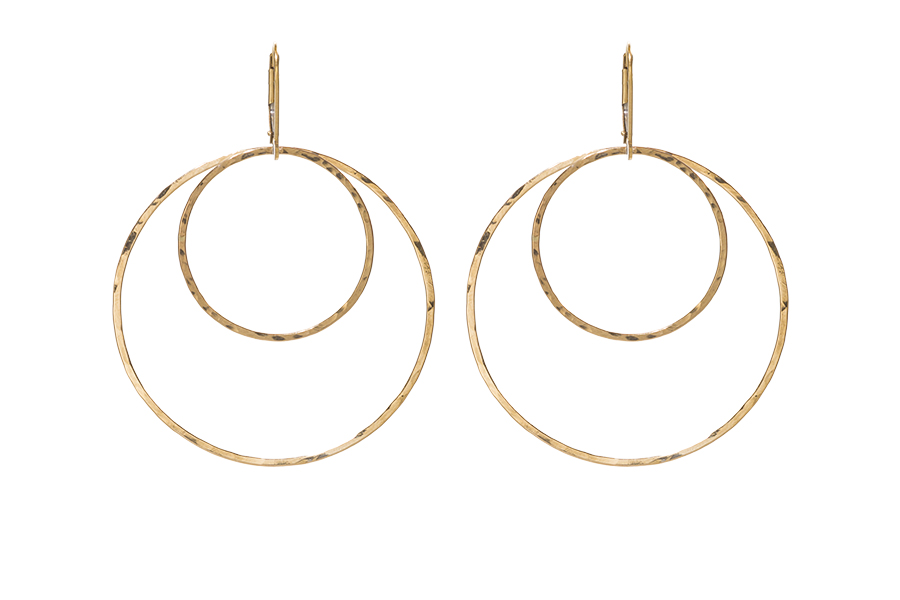 The Staple Double Hoop Earrings In Gold Or Sterling Silver From Sabinajewelry Com
