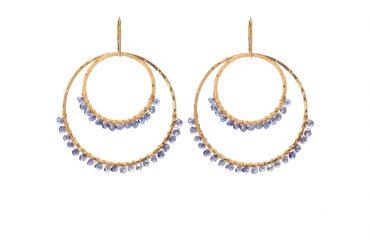 Double wrapped Hoop Earrings by SabinaJewelry.com - $150