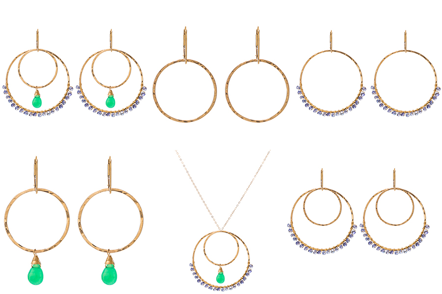"""""""It's a wrap"""" set is one of the Sabina Sisters (SabinaJewelry.com) favorite sets hand-picked from the Build Your Own interchangeable jewelry line. Dress up or be casual. These sets have every occasion covered!"""