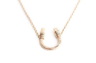 Hammered Horseshoe Necklace by SabinaJewelry.com - $65