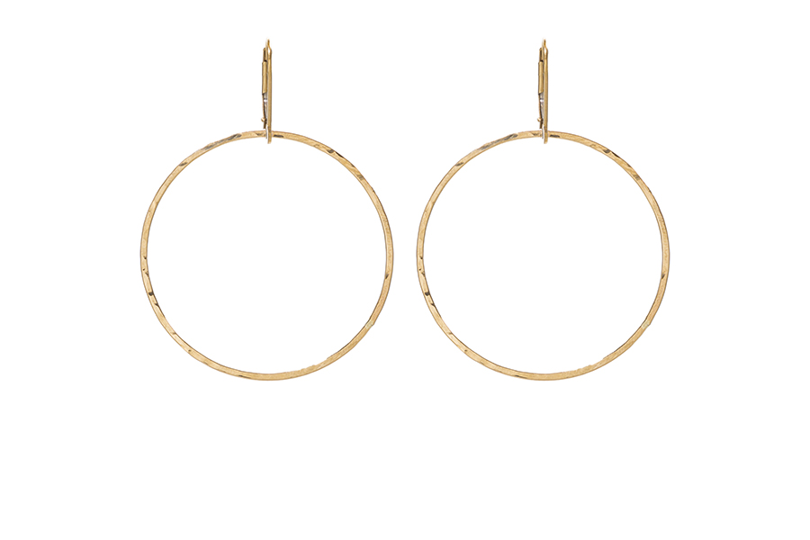 24 5mm Gold Hoops The Staple In Or Sterling Silver From Sabinajewelry Snap Back Earring