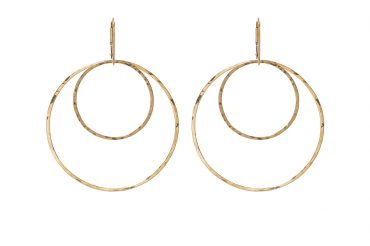 """The Staple"" Double hoop earrings In gold or sterling silver from SABINAJEWELRY.COM"